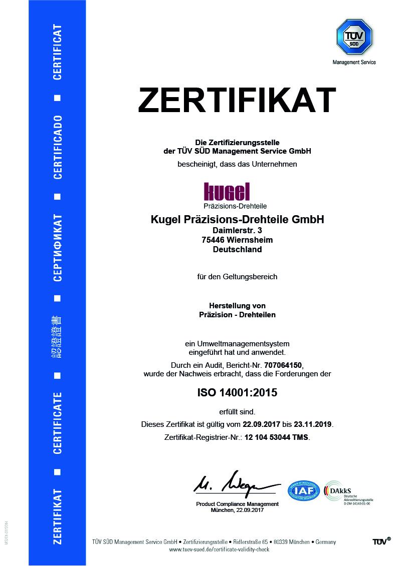 ISO 14001:2015, deutsch