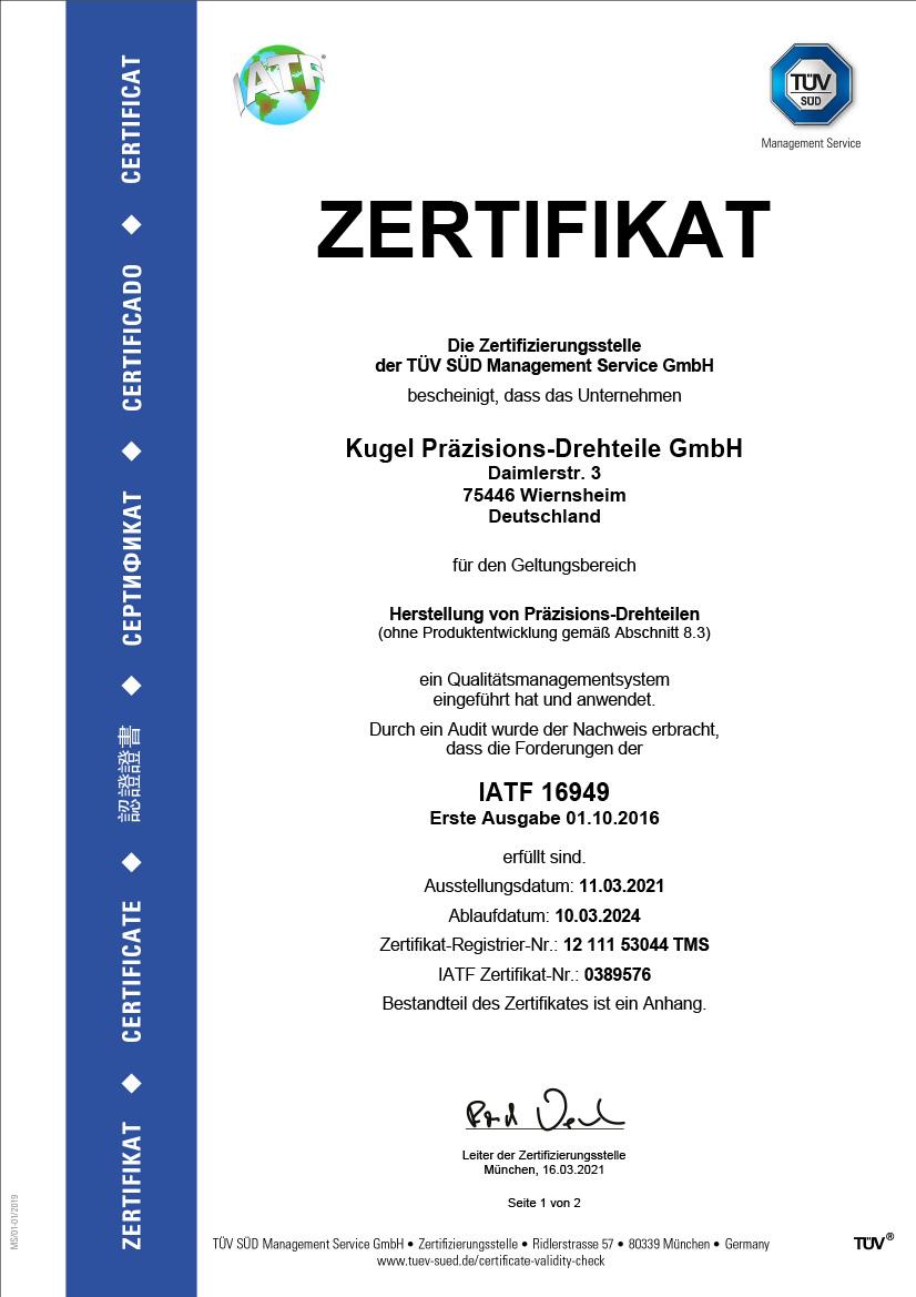 IATF 16949, deutsch, Seite 1